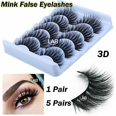 1 / 5 Pair 3D Mink False Eyelashes Wispy Cross Long Thick Fake Eye Soft Lashes • 2.66£