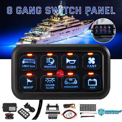 $129.99 • Buy IRONWALLS 8 Gang Switch Panel On-Off LED Car Switch Panel Circuit Control 12/24V