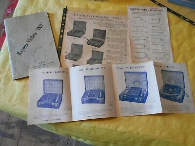 Vintage Catalogue Violet Ray Wands And Electrotherapy Machines Fluvita Ixu 1930s • 14£