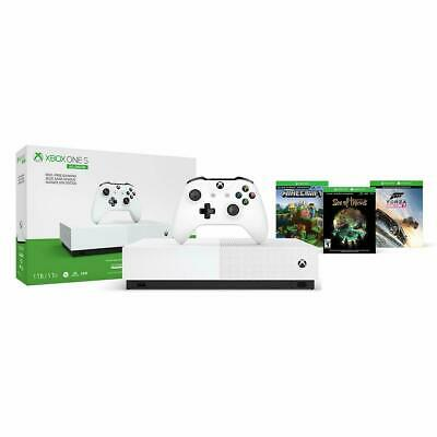 $249.99 • Buy Xbox One S 1TB Bundle With Controller And 3 Gms Forza Hzn 3, Sea Of Thieves, MC
