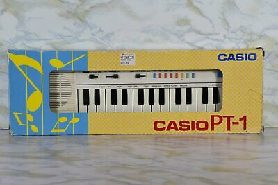 $39.99 • Buy Vintage Casio PT -1 Electronic Mini Keyboard In Original Box With Instructions