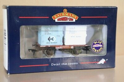 BACHMANN 37-976 BR CONFLAT A WAGON B709437 With TWO CONTAINER LOAD Nv • 15£