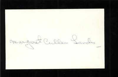 AU126.25 • Buy Margaret Cullen Landis D.1981 Actress Alice Adams Signed 3  X 5  Index Card