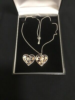 "Official Welsh Clogau Silver & Rose Gold SMALL Fairy Locket (18"" Chain)pre-owned • 30£"