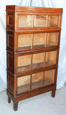 $1250 • Buy Antique Macey Oak 4 High Sectional Arts & Crafts Mission Bookcase
