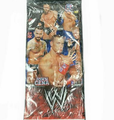 WWE Wrestling Birthday Party Supplies Paper Tablecover New Factory Sealed 2012 • 10.85£