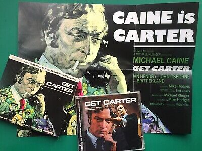 Roy Budd GET CARTER Film Soundtrack SPECIAL EDITION CD Cinephile Michael Caine • 30£