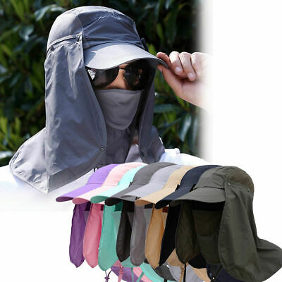 $12.19 • Buy Fishing Hiking Hat Outdoor Sport UV Sun Protection Neck Face Flap Cap Wide Brim