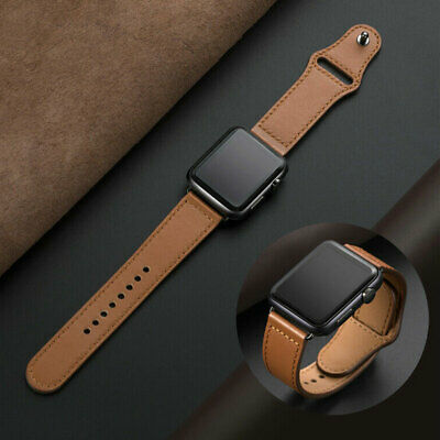 $ CDN7.49 • Buy Genuine Leather IWatch Band Strap For Apple Watch Series 5 4 3 2 1 38 40/42 44mm