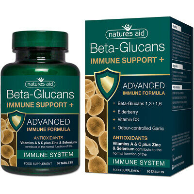 Natures Aid Beta-Glucans Immune Support+ - 90 Tablets • 19.99£