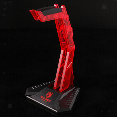 AU19.52 • Buy Acrylic Gaming Headphone Stand Holder Red Earphone Hanger Headset Display Rack