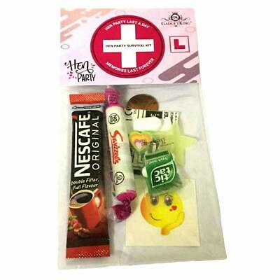HANGOVER Survival KIT Party Gift Hen Bags Filled Favour Accessories Bachelorette • 2.79£