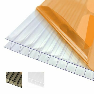 10mm Twinwall Polycarbonate Sheet Conservatory Lean-To Carport Canopy Roofing • 40.73£