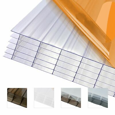 £423.57 • Buy 35mm Polycarbonate Sheet Conservatory Lean-To Carport Canopy Multiwall Roofing