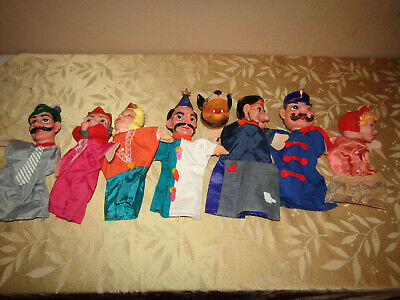 $59.99 • Buy Vintage Mr. Rogers Neighborhood Hand Puppets Lot Of 7 Rubber Faces Cloth Bodies