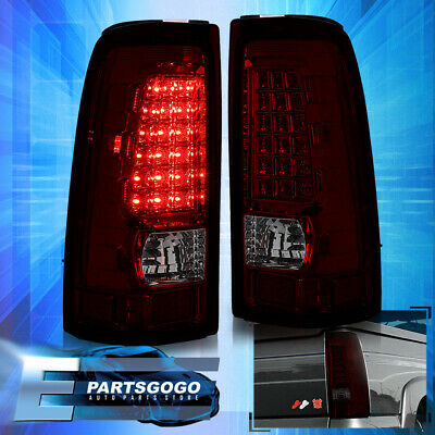 $93.99 • Buy For 99-06 Silverado Sierra 1500/2500/3500 Red Smoked LED Brake Tail Lights Lamps