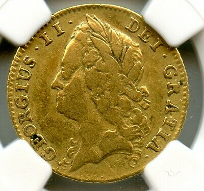 £1007.84 • Buy Great Britain 1740 Gold Half Guinea,  Rare 3yr Only Type, S.3683 NGC Graded F-15