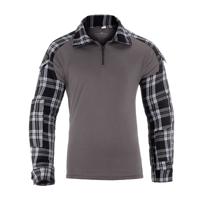 Invader Gear Men's Flannel Combat Ubacs Shirt Black Under Vest Top Long Sleeve • 33.99£