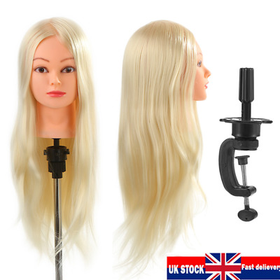 26  Salon Hair Styling Training Head Hairdressing Mannequin Doll + Clamp UK Ship • 12.97£