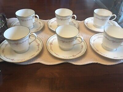 Mikasa Millbrooke Pattern Bone China Set Of 6 Tea Cups And Saucers • 25.04£