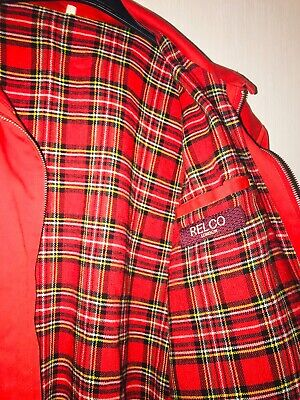 £16 • Buy Vintage Red Relco Harrington   Size Small