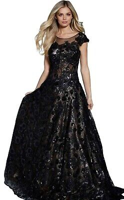 $249 • Buy Jovani Women's Pageant Black Evening Ball Gown Sells For $900 Authentic New Tags