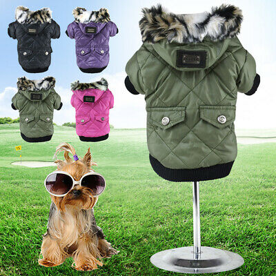 £6.59 • Buy Dog Clothes For Small Dog Waterproof Jacket Warm Coat Clothing For Pet Chihuahua