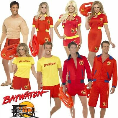 £28.18 • Buy Mens Womens Baywatch Lifeguard Fancy Dress 80's 90's Stag Hen Pool Party Costume