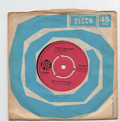 (W409) The Honeycombs, Have I The Right - 1964 - 7 Inch Vinyl • 2.99£