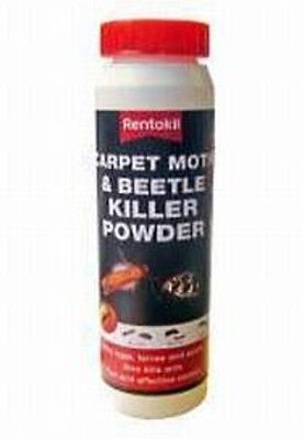 Rentokil Carpet Moth & Beetle Killer Powder Kills Eggs, Larvae & Ants 150g • 7.99£