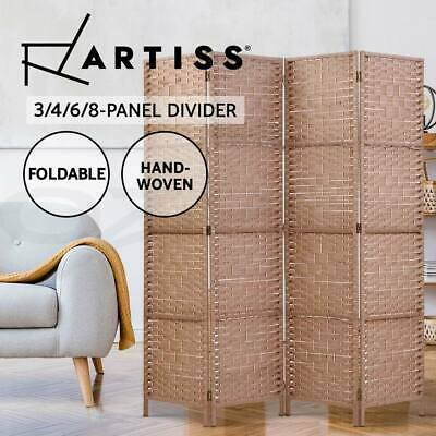 AU68.95 • Buy Artiss 4/6/8 Panel Room Divider Privacy Screen Dividers Stand Rattan Natural
