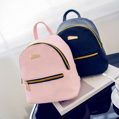 $11.52 • Buy Women Faux Leather Mini Backpack Travel Handbag Girls School Rucksack Bag Newl