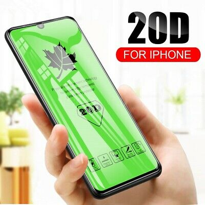 20D Tempered Glass Screen Protector For IPhone 7 8 SE X XR XS 11 12 Pro Max Mini • 3.95£