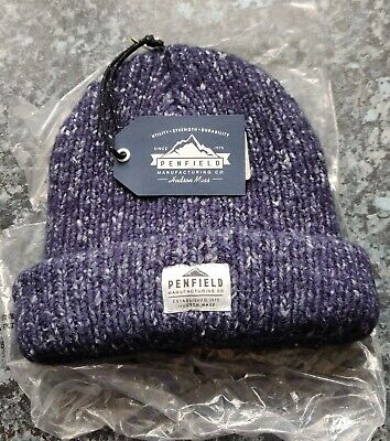 PENFIELD USA CONWAY NAVY Beanie Hat - Super Comfy & Warm - One Size - NEW / TAGS • 17.95£