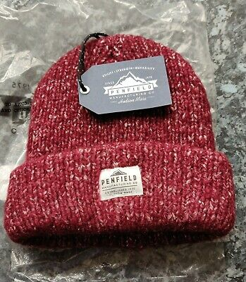 PENFIELD USA CONWAY RED Beanie Hat - Super Comfy & Warm - One Size - NEW / TAGS • 17.95£