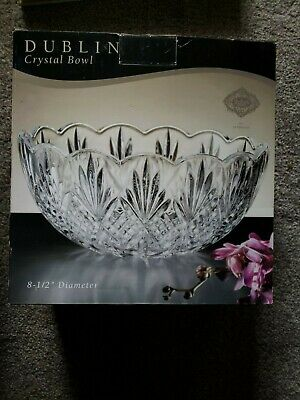 $12.99 • Buy Dublin Lead Crystal Bowl Godinger Shannon Elegant Round Dish Decor