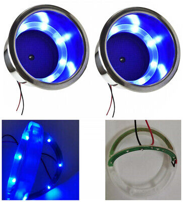 AU14.06 • Buy 4X Stainless Steel Green LED Drink Cup Holder Boat/Truck RV/Camper/Yacht/Sofa