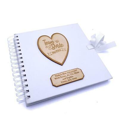 Personalised Team Bride Hen Party Scrapbook Photo Album White Cover • 14.99£