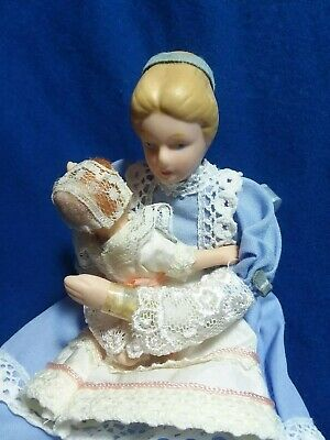 $ CDN101.02 • Buy Exquisite Dollhouse Dolls Porcelain Nurse/Mother With Baby 1/12th Scale