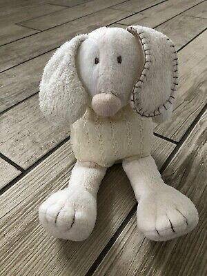 Mamas And Papas M&P Cream Patch Puppy Display Dog Baby Comforter Soft Toy • 10£