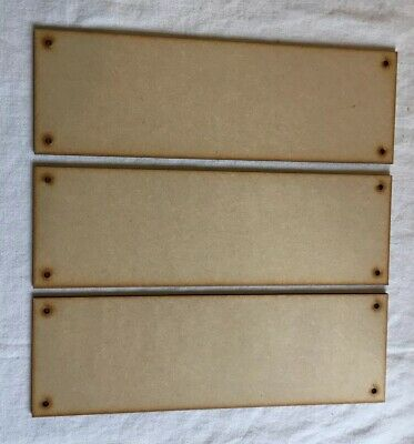 £3.49 • Buy SP3 3x Rectangle Wall Plaque Laser Cut Mdf Wooden Craft Blank Sign 280mm X 90mm