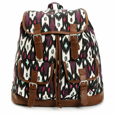 $24.99 • Buy Empyre Serene Blackberry Tribal Rucksack Backpack Bookbag Brown Mint BTS NEW