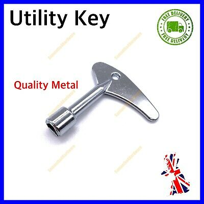 £4.95 • Buy Utility Meter Box Key Service Boxes Gas Electric Cupboard Cabinet Triangle Drive