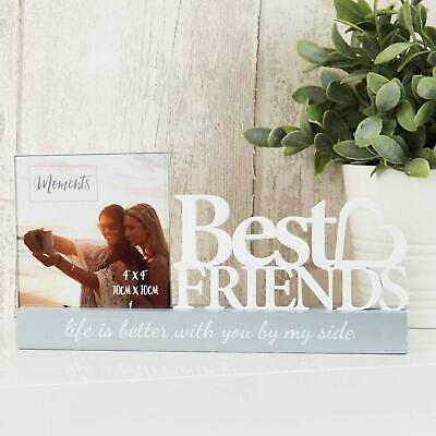 £11.99 • Buy Best Friends Photo Frame 4 X 4 Freestanding Picture Friendship Sentiment Gift