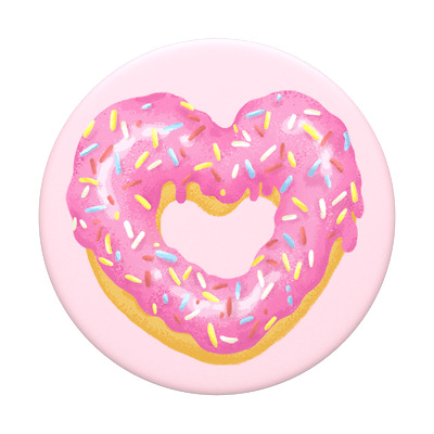 AU13.95 • Buy PopSockets® Strawberry Heart Donut Original Phone Grip Genuine Product
