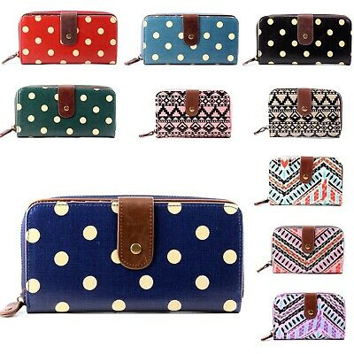 Womens Large Or Small Oilcloth Flower Dot Purse And Wallets Girl Coin Purse • 7.55£