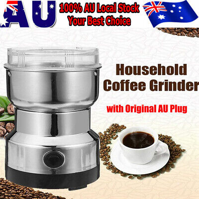 AU27.49 • Buy 240V Electric Herbs/Spices/Nuts/Coffee Bean Grinder/Grinding/Mill Blender New