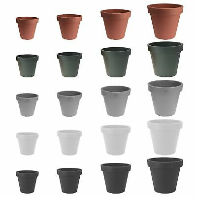 Plastic Flower Plant Garden Indoor Outdoor Herb Planter Pots Sizes And Colours • 8.99£