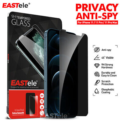 AU6.95 • Buy IPhone 11 Pro XS Max XR X EASTele Privacy Tempered Screen Protector For Apple