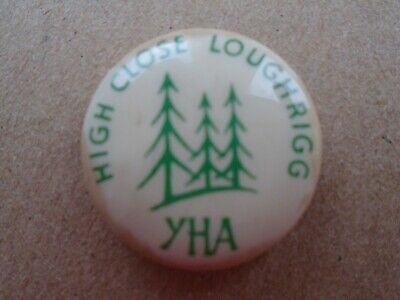 YHA High Cross Loughrigg Youth Hostel Button Badge 25mm Youth Hostel Ass 1970's • 3.75£